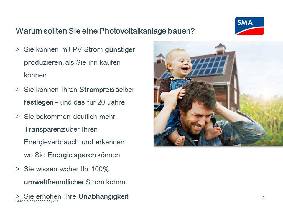 Warum sollten Sie eine Photovoltaikanlage bauen