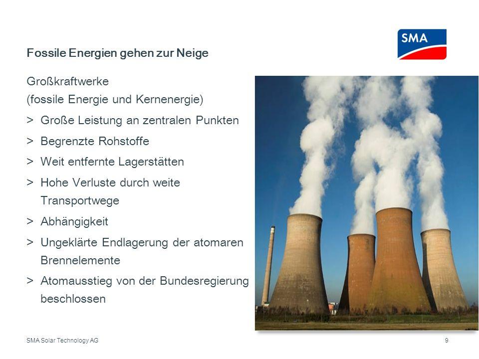 Fossile Energien gehen zur Neige