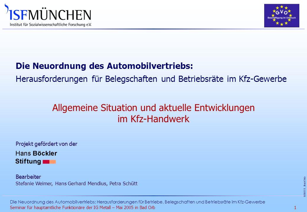 Allgemeine Situation und aktuelle Entwicklungen im Kfz-Handwerk