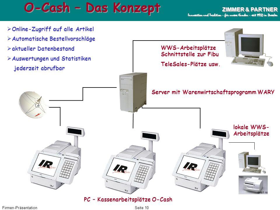 O-Cash – Das Konzept Online-Zugriff auf alle Artikel