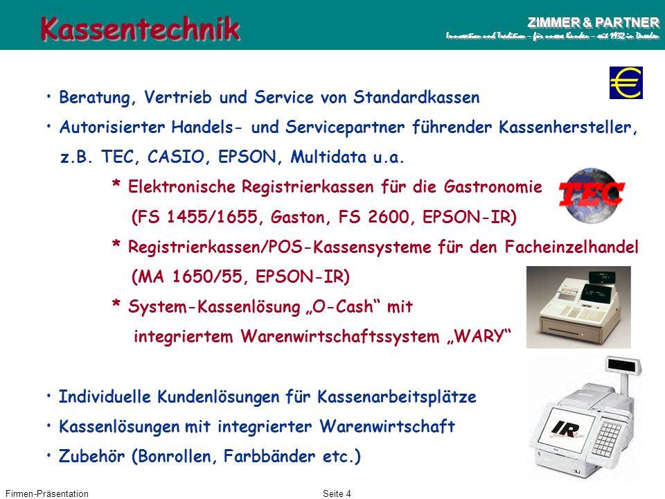 Kassentechnik Beratung, Vertrieb und Service von Standardkassen