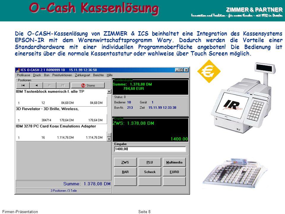 O-Cash Kassenlösung