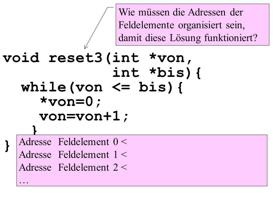 void reset3(int. von, int. bis){ while(von <= bis){