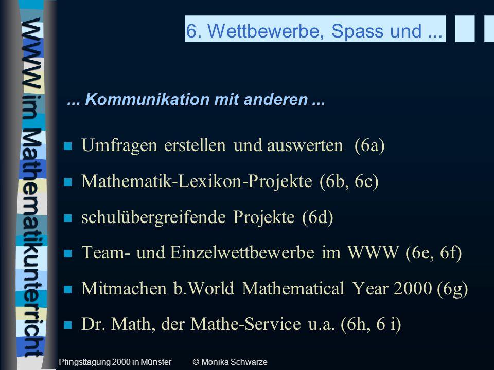 WWW im Mathematikunterricht