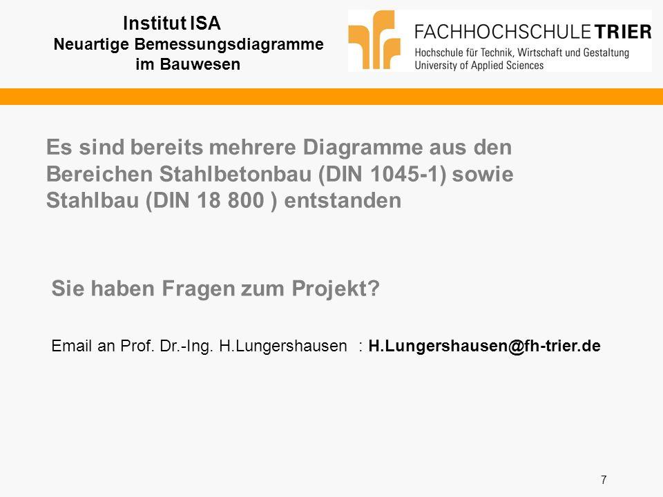 Institut ISA Neuartige Bemessungsdiagramme im Bauwesen