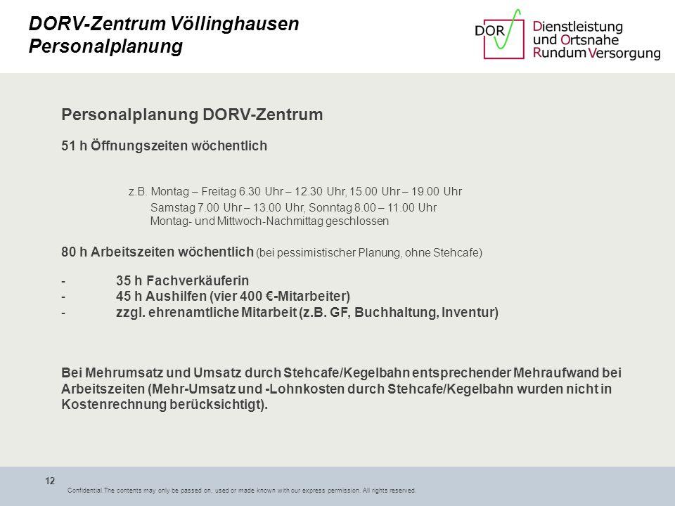 DORV-Zentrum Völlinghausen Personalplanung