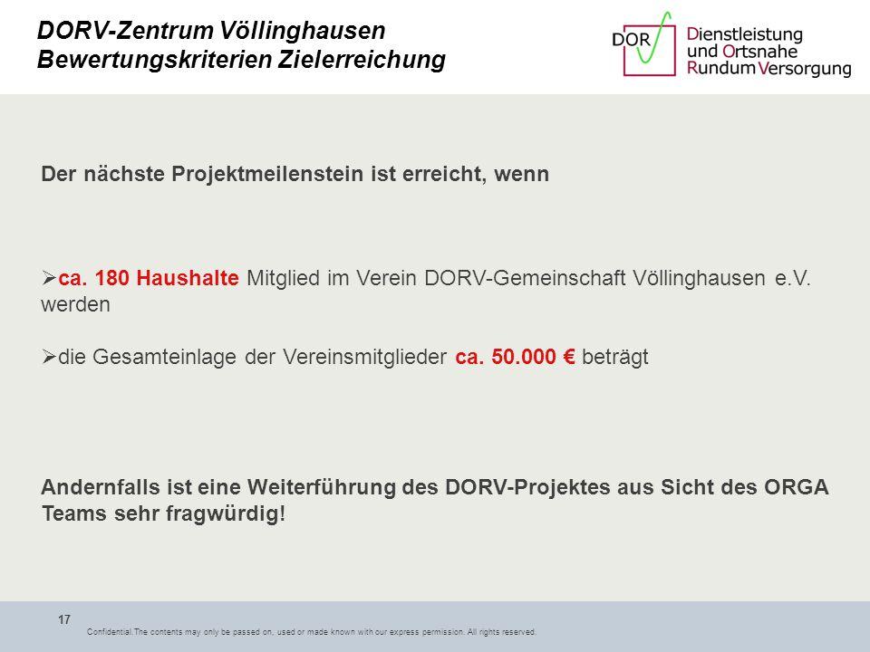 DORV-Zentrum Völlinghausen Bewertungskriterien Zielerreichung