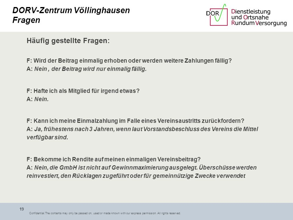 DORV-Zentrum Völlinghausen Fragen