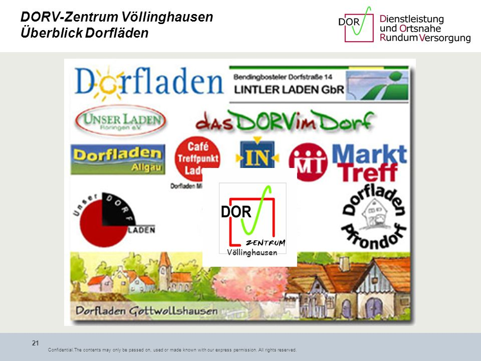 DORV-Zentrum Völlinghausen Überblick Dorfläden