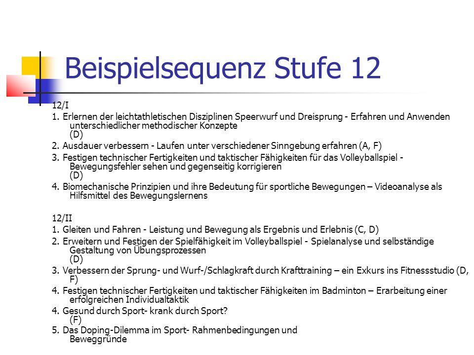 Beispielsequenz Stufe 12
