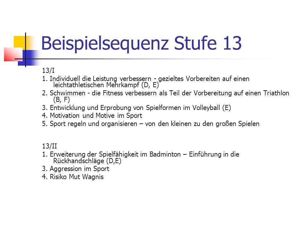 Beispielsequenz Stufe 13