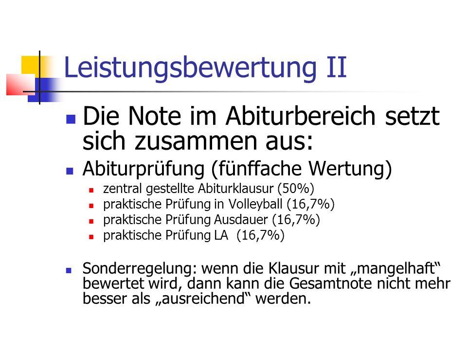 Leistungsbewertung II