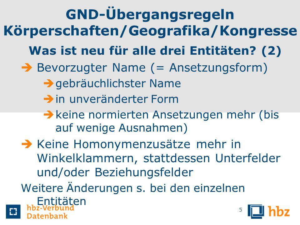 GND-Übergangsregeln Körperschaften/Geografika/Kongresse