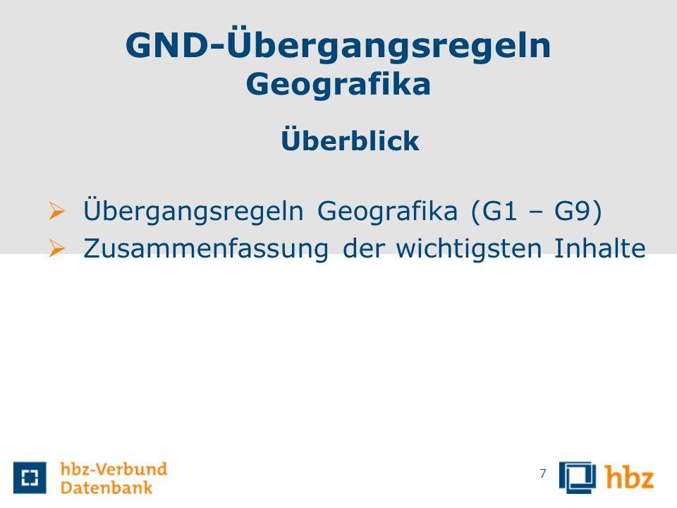 GND-Übergangsregeln Geografika