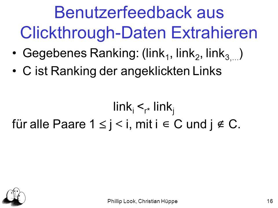 Benutzerfeedback aus Clickthrough-Daten Extrahieren