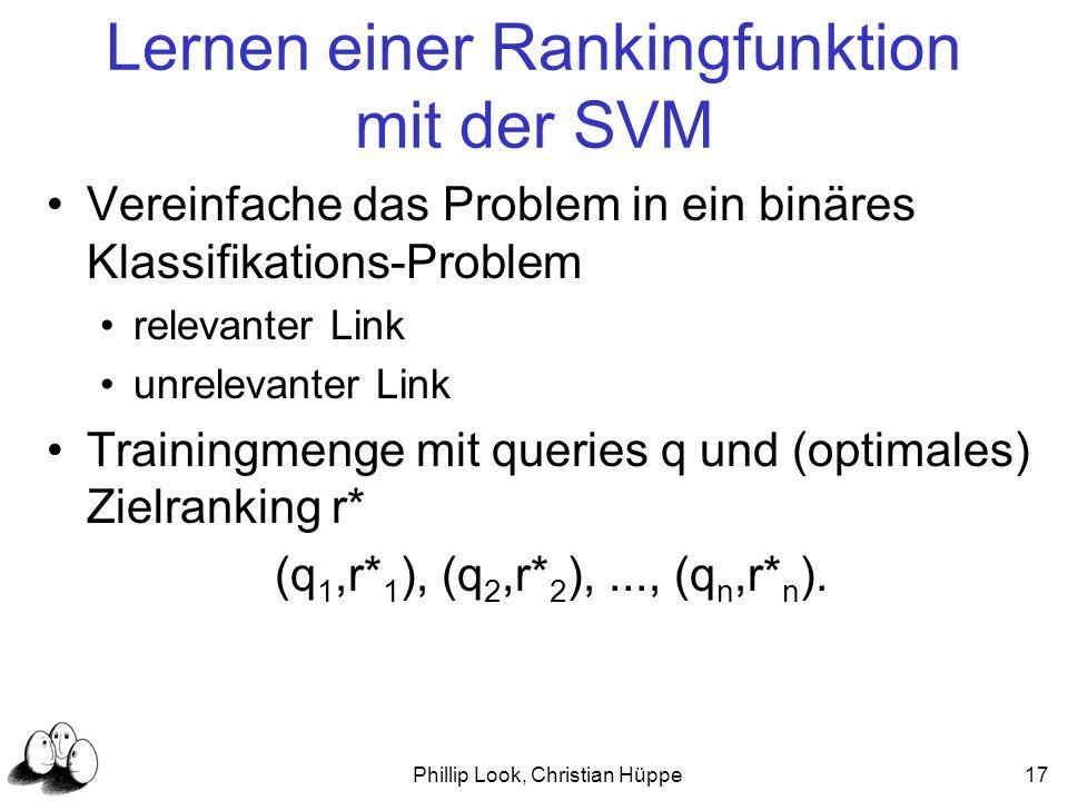 Lernen einer Rankingfunktion mit der SVM