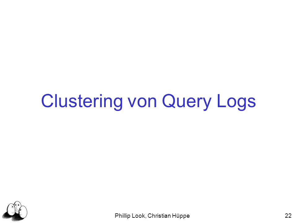 Clustering von Query Logs