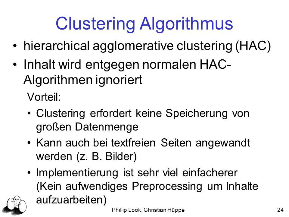 Clustering Algorithmus