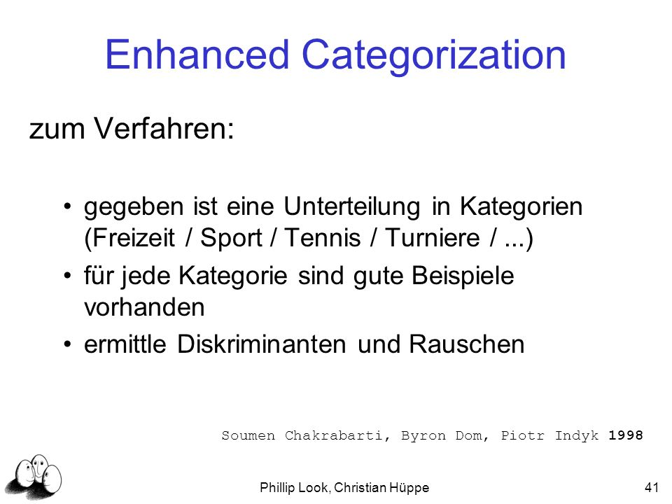 Enhanced Categorization