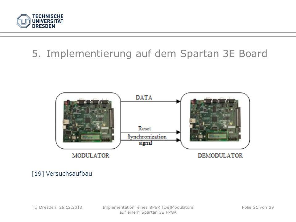 Implementierung auf dem Spartan 3E Board