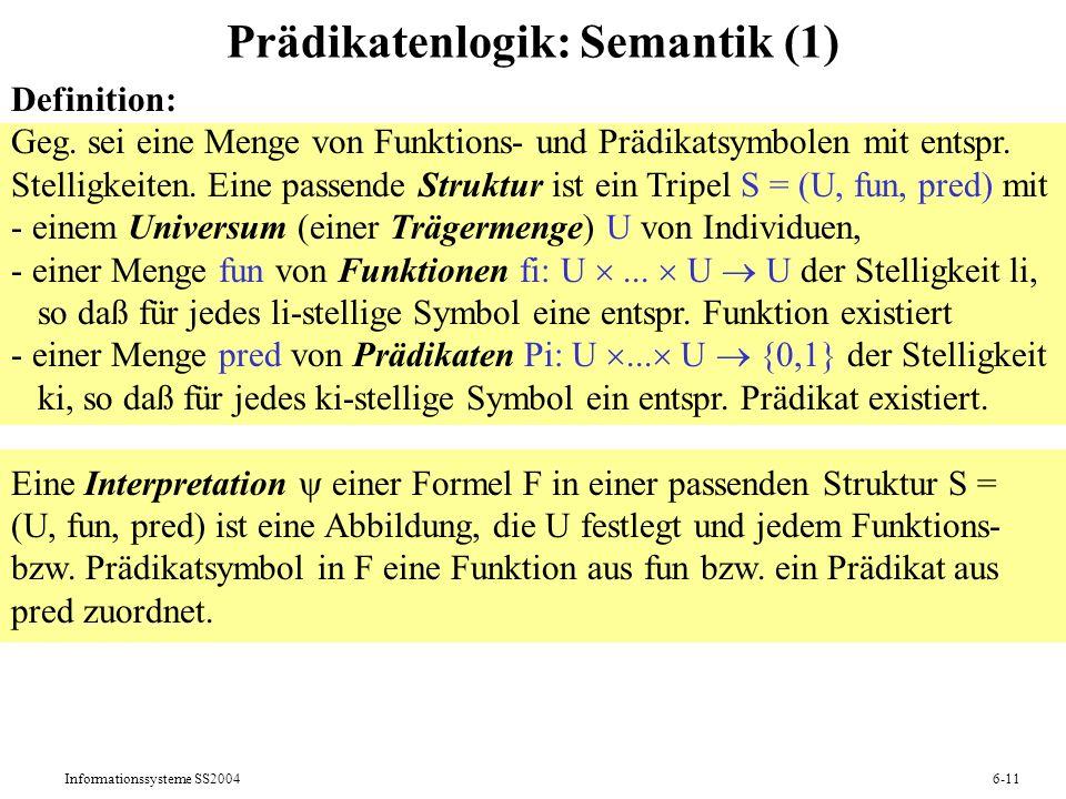 Prädikatenlogik: Semantik (1)