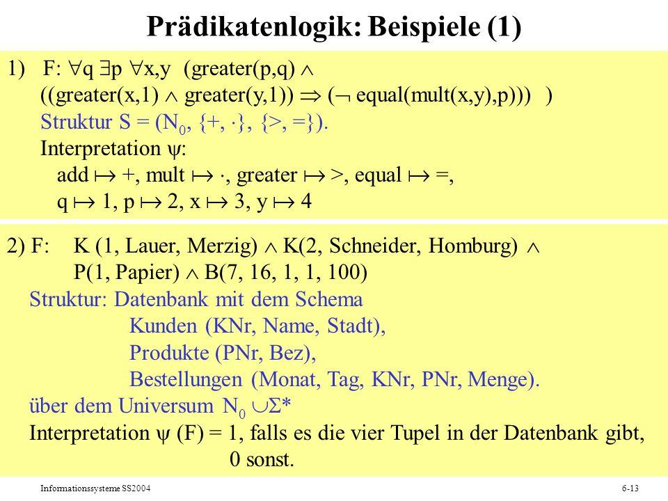 Prädikatenlogik: Beispiele (1)