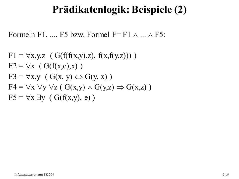 Prädikatenlogik: Beispiele (2)