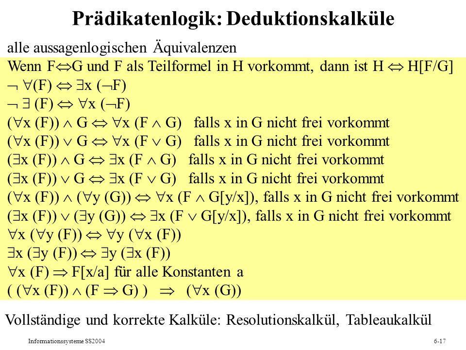 Prädikatenlogik: Deduktionskalküle