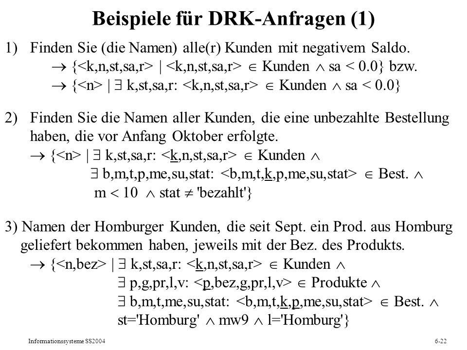 Beispiele für DRK-Anfragen (1)