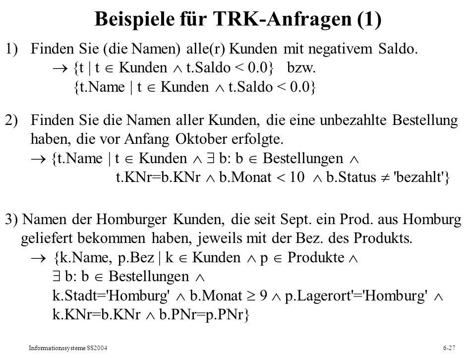 Beispiele für TRK-Anfragen (1)