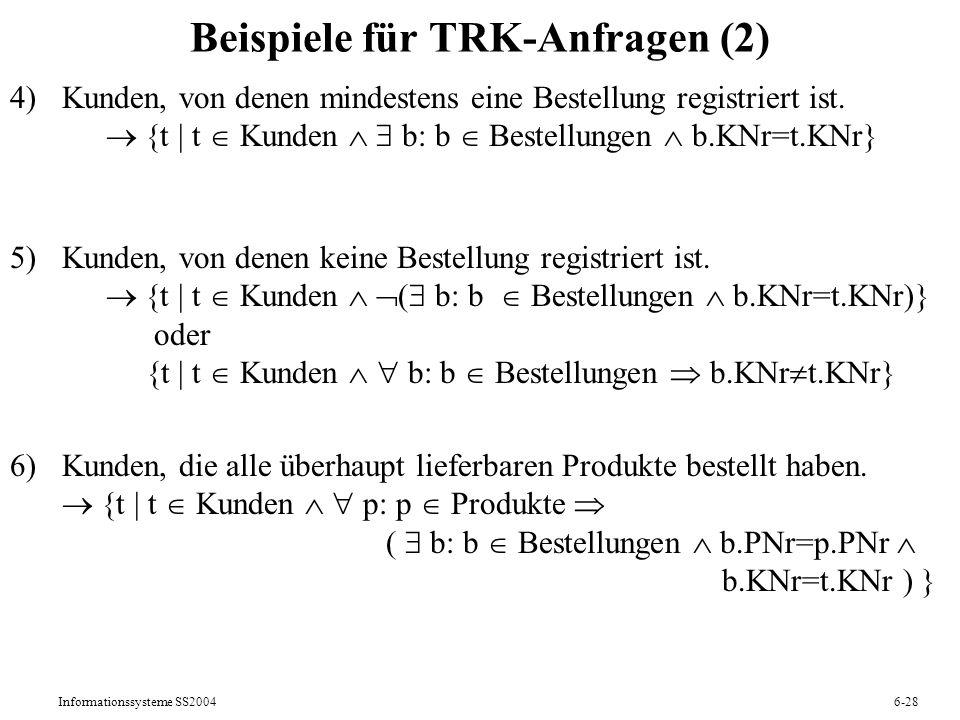Beispiele für TRK-Anfragen (2)