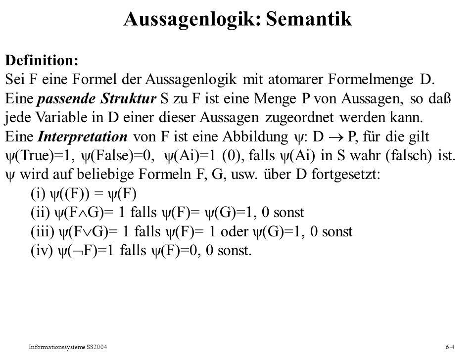 Aussagenlogik: Semantik