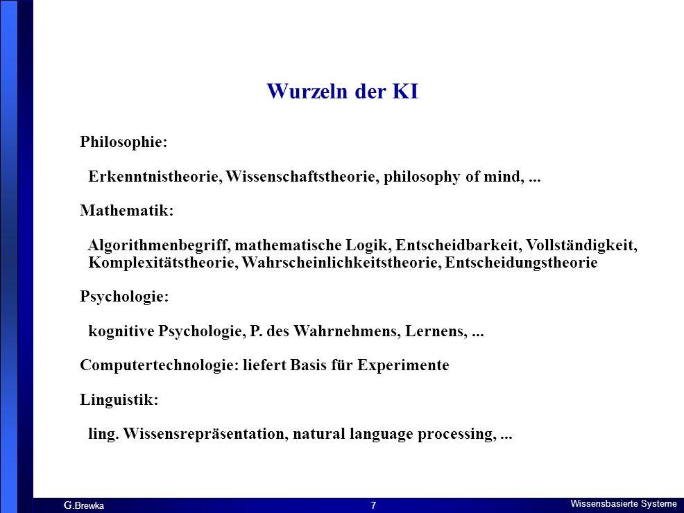 Wurzeln der KI Philosophie: