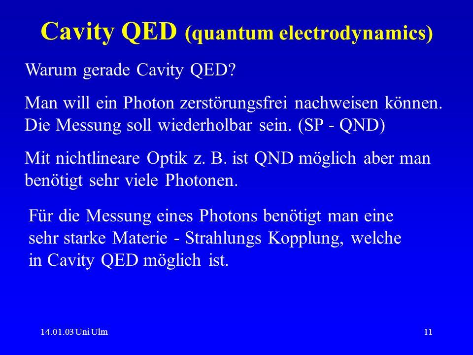 Cavity QED (quantum electrodynamics)