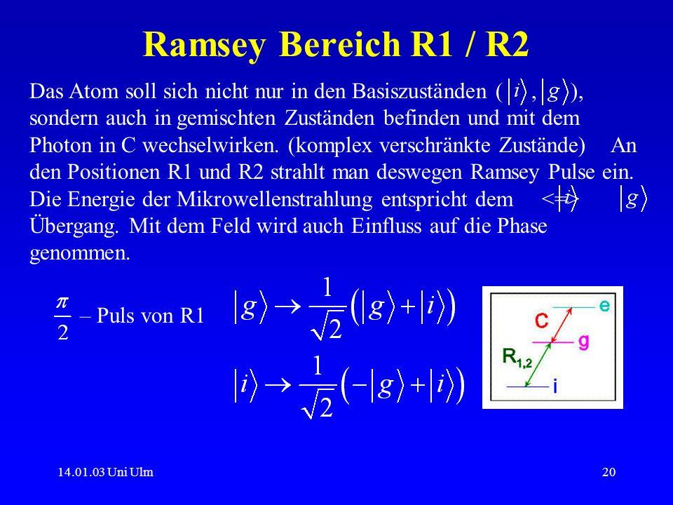 Ramsey Bereich R1 / R2