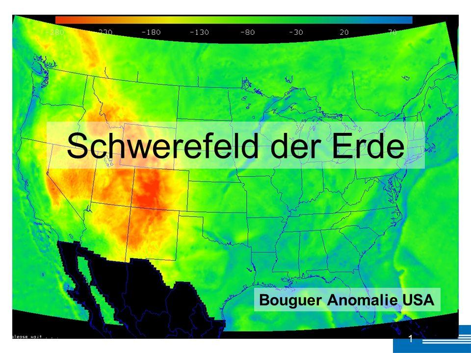 Schwerefeld der Erde Bouguer Anomalie USA 1