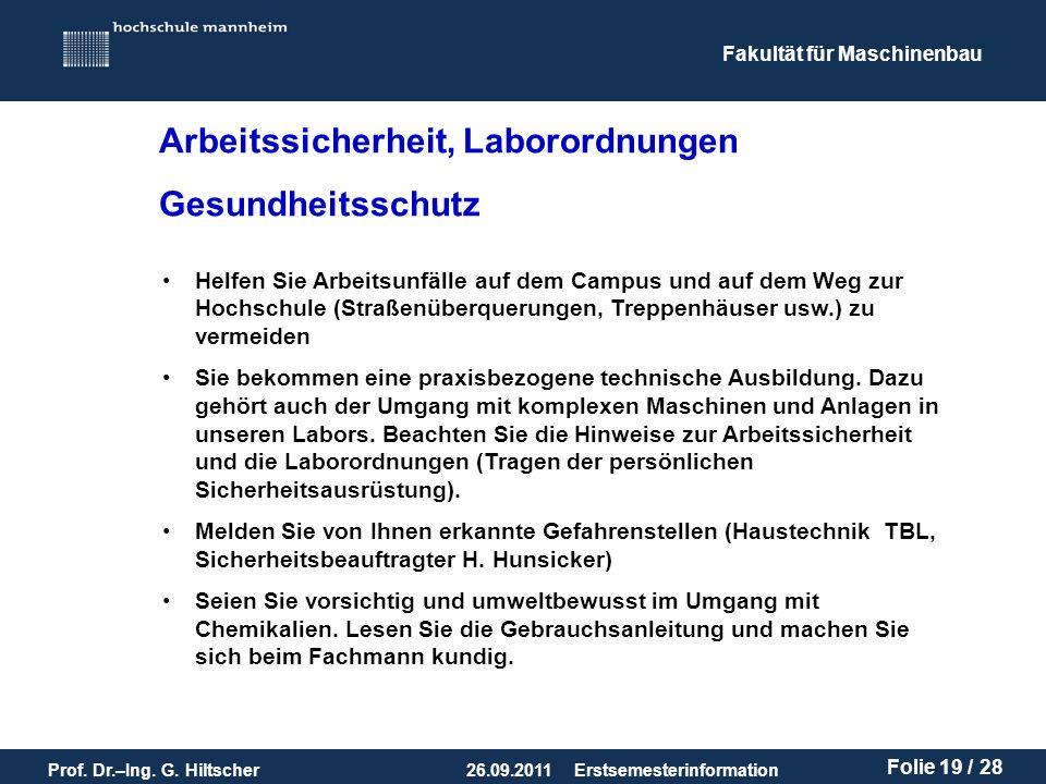 Arbeitssicherheit, Laborordnungen Gesundheitsschutz