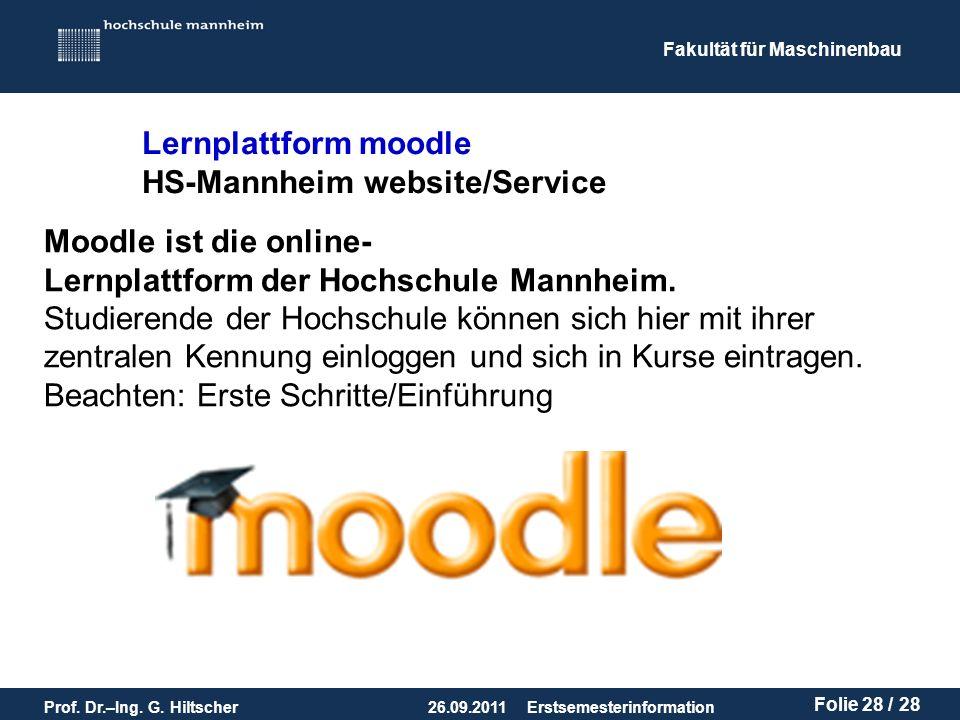 Lernplattform moodle HS-Mannheim website/Service. Moodle ist die online- Lernplattform der Hochschule Mannheim.