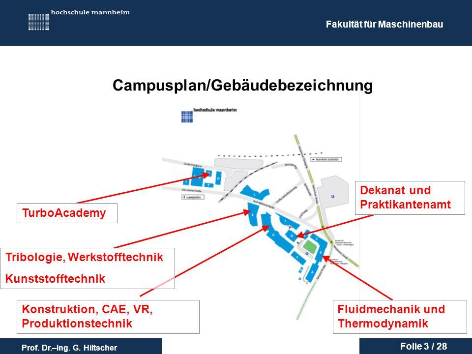 Campusplan/Gebäudebezeichnung