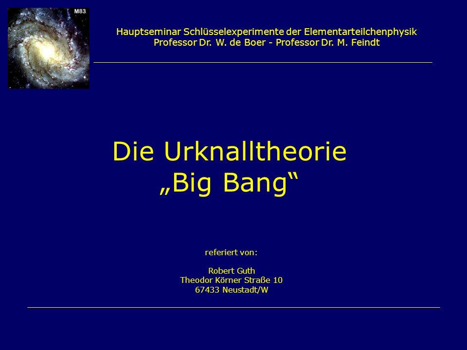 """Die Urknalltheorie """"Big Bang"""