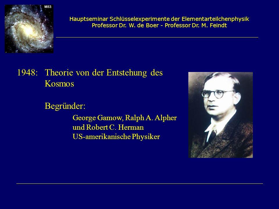 1948: Theorie von der Entstehung des Kosmos Begründer: