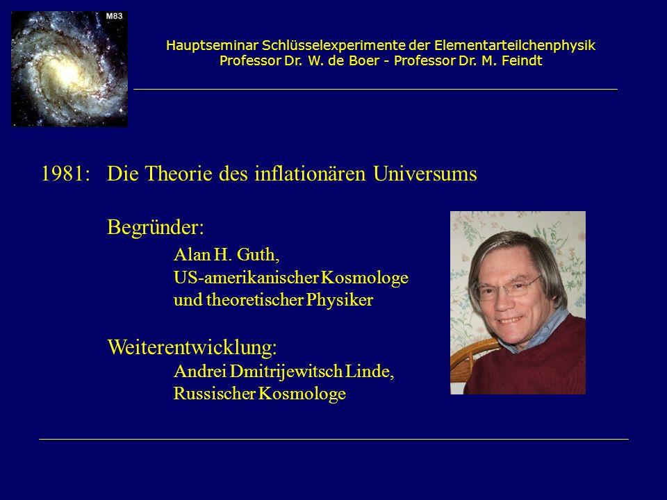 1981: Die Theorie des inflationären Universums Begründer: