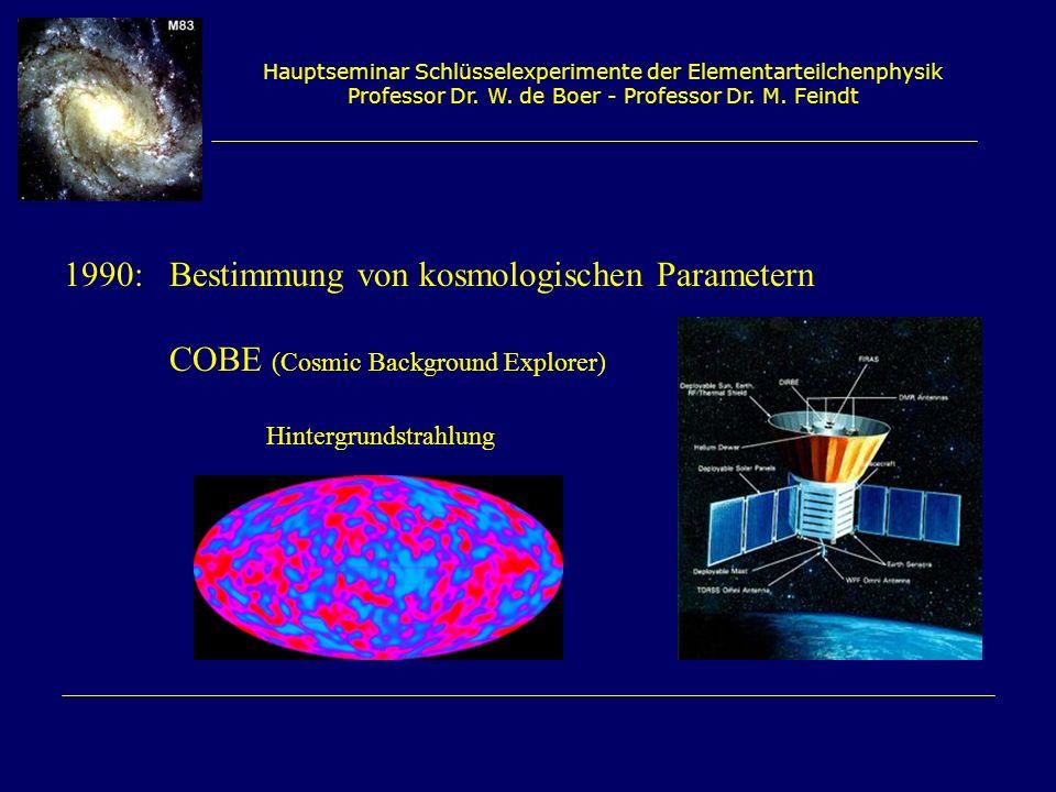 1990: Bestimmung von kosmologischen Parametern