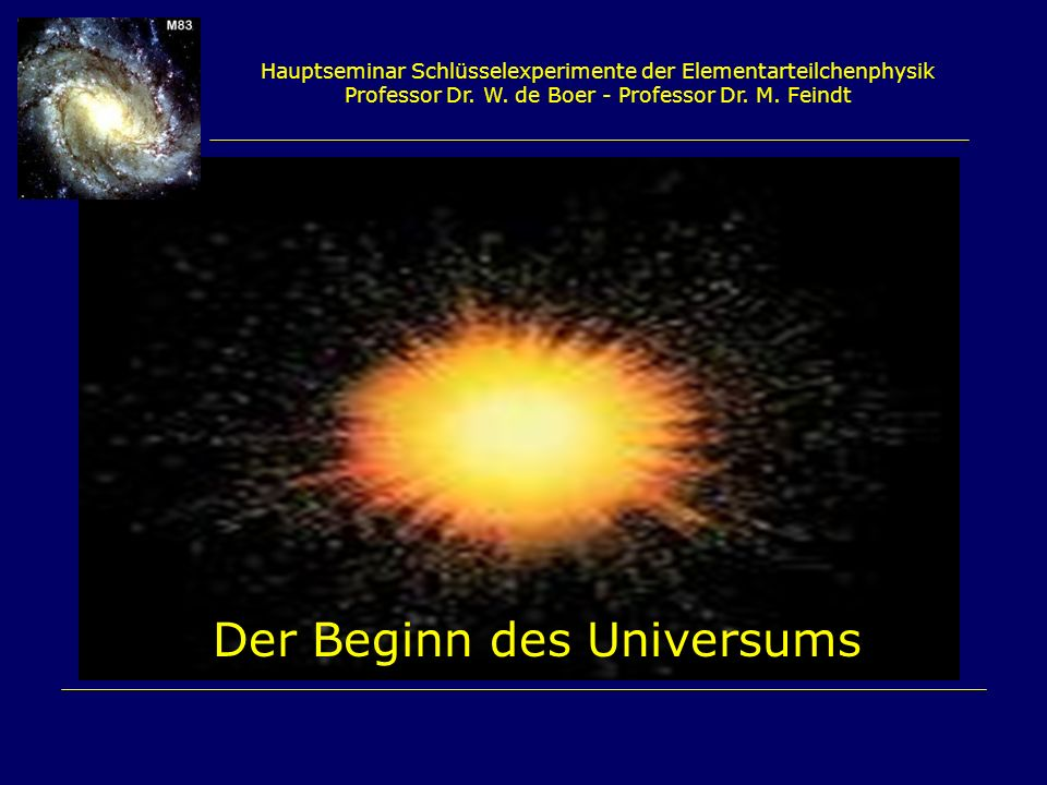 Der Beginn des Universums