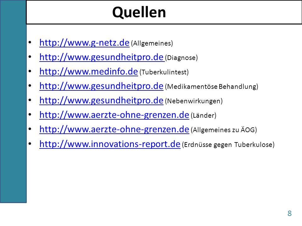Quellen http://www.g-netz.de (Allgemeines)