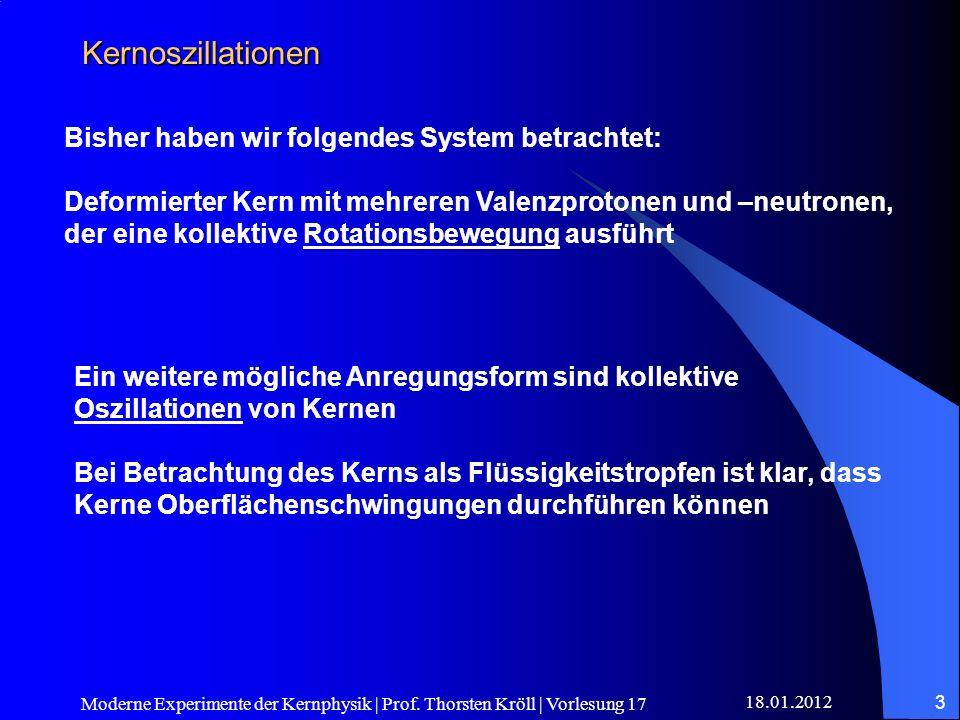 Kernoszillationen Bisher haben wir folgendes System betrachtet: