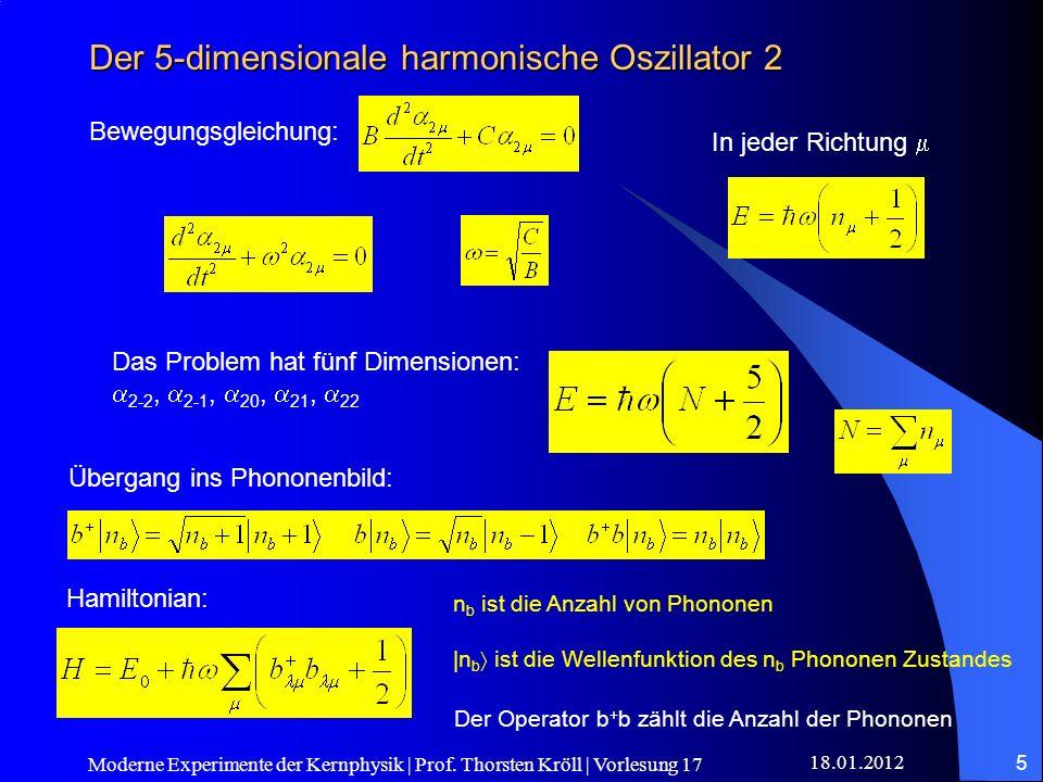 Der 5-dimensionale harmonische Oszillator 2