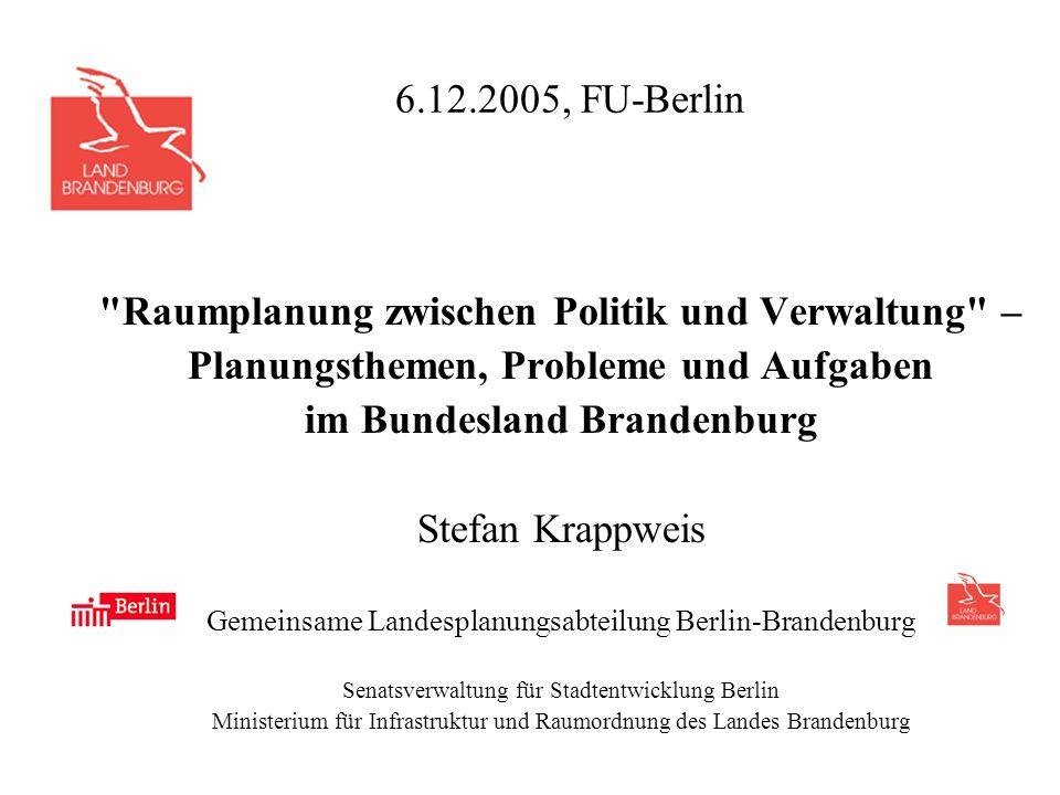 Raumplanung zwischen Politik und Verwaltung –