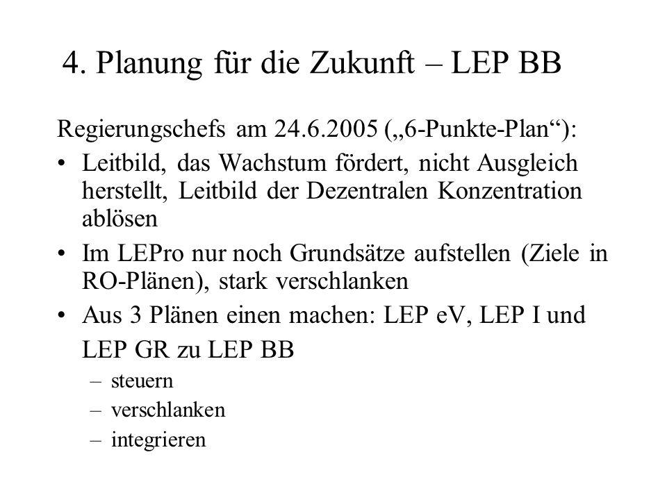 4. Planung für die Zukunft – LEP BB