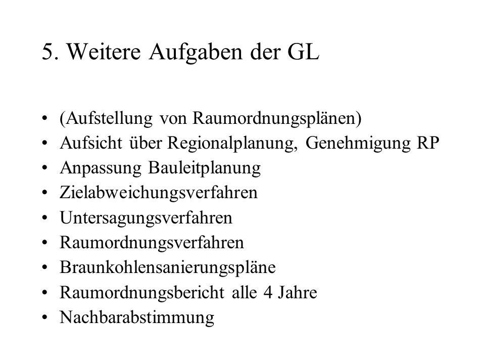 5. Weitere Aufgaben der GL
